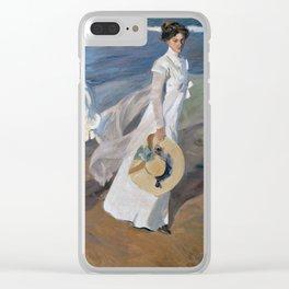 Joaquin Sorolla Y Bastida - Strolling Along The Seashore Clear iPhone Case