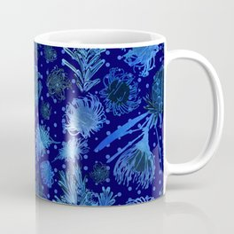Blue Australian Native Floral Print Coffee Mug