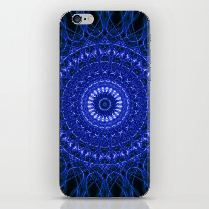 Dark blue mandala iPhone Skin