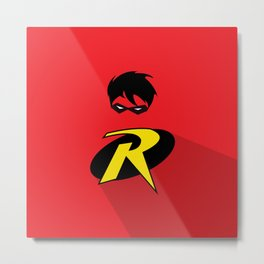 Robin Super Hero Metal Print