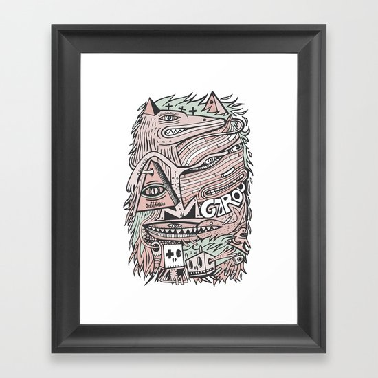 Hirsute Framed Art Print