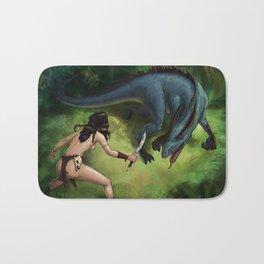 Jungle Girl Vs. Raptordrake Bath Mat