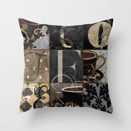 Cafe Noir Patchwork Throw Pillow