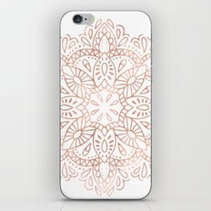 Mandala Rose Gold Pink Shimmer by Nature Magick iPhone Skin
