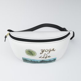 Yoga is Life - Art - Painting - Watercolor Prints - Fanny Pack