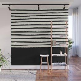 Black x Stripes Wall Mural