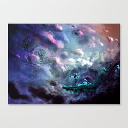 Water Temple in the Sky Canvas Print