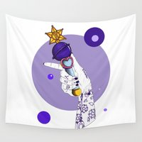 saturn Wall Tapestries featuring Saturn by scoobtoobins