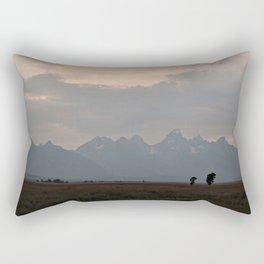 Grand Teton Mountains at Dusk Rectangular Pillow