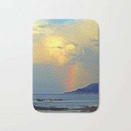 Rainbow on the Coastal Town Bath Mat