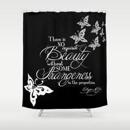 Strange Skullerflies - EA Poe Quote Shower Curtain