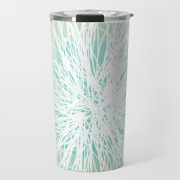Doodle Flowers in Mint by Friztin Travel Mug