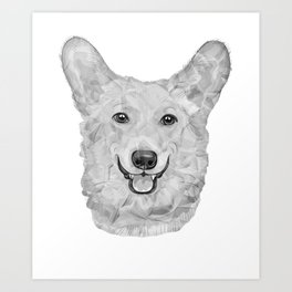 Dog Gray Illustration   Three Nomads Art Print