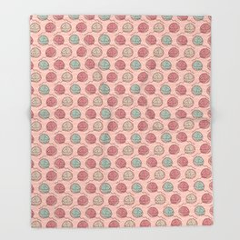 Ball of knitting yarn crafts seamless pattern Throw Blanket
