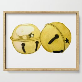 Gold Jingle bells Serving Tray