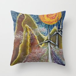 Windy Day in Tucker County Throw Pillow