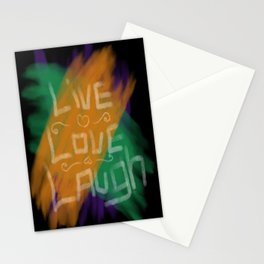 Live, Love, Laugh Stationery Cards