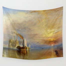 The Fighting Temeraire by J. M. W. Turner (1838) Wall Tapestry