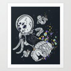 SKATE INVADERS Art Print
