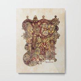 Book Of Kells Chi Rho Page Metal Print