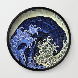 Hokusai Feminine Wave Japanese Vintage Fine Art Wall Clock