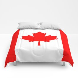 Canadian National flag, Authentic color and 3:5 scale version Comforters