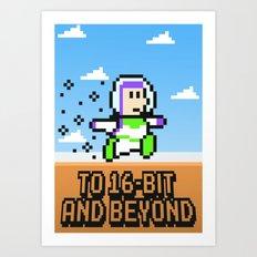 To 16Bit and Beyond Art Print