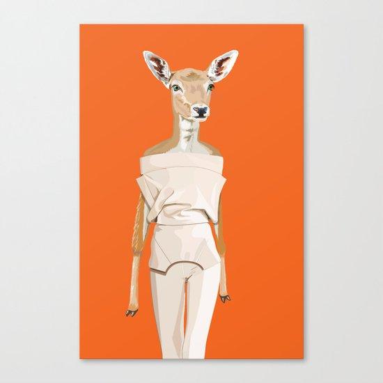Doe wearing Felipe Oliveira Baptista Canvas Print