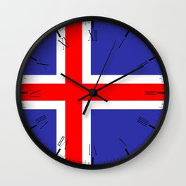 Iceland National Flag Wall Clock