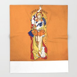Her Codename - Sailor Venus nouveau Throw Blanket