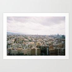 Barcelona Art Print