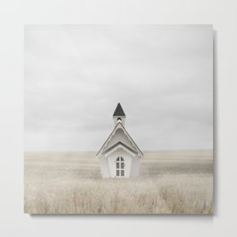 Field Church Metal Print