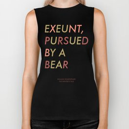Shakespeare - The Winter's Tale - Exeunt Exit Pursued by a Bear Biker Tank