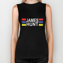 JAMES HUNT Formula Racing Car Black hunt Biker Tank