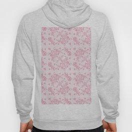 Elegant stylish dusty pink white floral lace Hoody