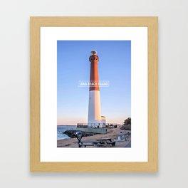 Barnegat Light - Long Beach Island - New Jersey. Framed Art Print