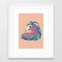 horse Framed Art Prints featuring Beautiful Horse by dvdesign