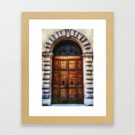 Romanesque, Roman Door, Italy Framed Art Print