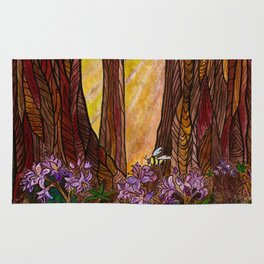 Rays in the Redwoods Rug