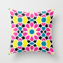 Arabesque CMYK Throw Pillow