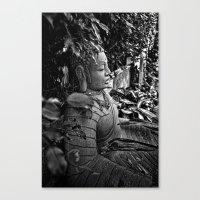 buddah Canvas Prints featuring Mystic Buddah by Tyrantzor