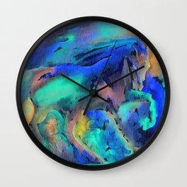 Dancing in the rain Wall Clock