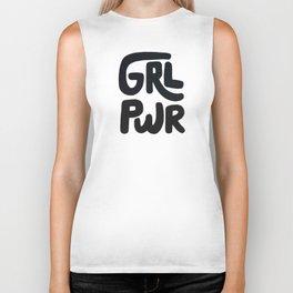 Grl Pwr black and white Biker Tank
