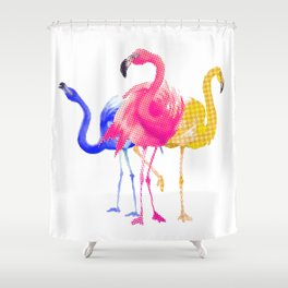 Catwalk Flamingos Shower Curtain