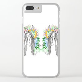 The flowers twins Clear iPhone Case