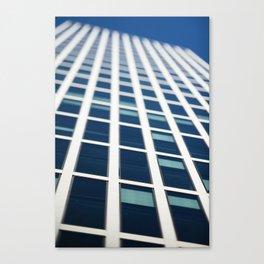 Abstract tilt shift view of skyscraper facade Canvas Print