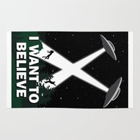i want to believe Area & Throw Rugs featuring I want to believe by BomDesignz