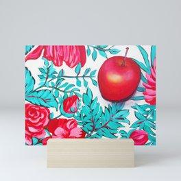rosy apple Mini Art Print