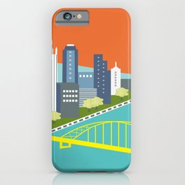 Pittsburgh, Pennsylvania - Skyline Illustration by Loose Petals iPhone Case