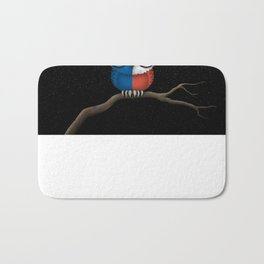 Baby Owl with Glasses and Texas Flag Bath Mat